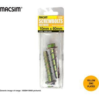 5MMx50MM MACSIM HEX SCREWBOLT