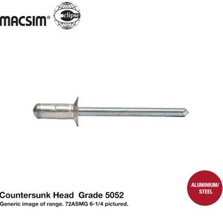 4.8X1-6.4 ALUM M/GRIP CSK RVT