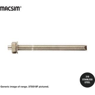10mm 316 SS CHEM STUD FLAT TOP