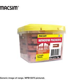 15MM X 75MM ORANGE WINDOW PACKER BUCKET