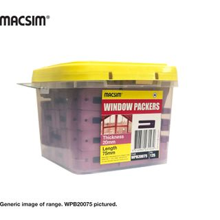 20MM X 75MM PINK WINDOW PACKER BUCKET
