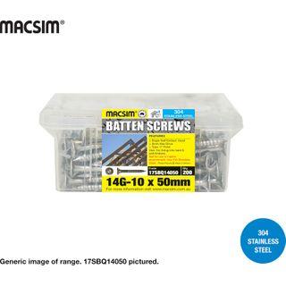 14gx100mm S/S BATTEN SCREW Q/P