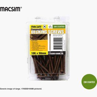 10 X 65 COMPOSITE DECK SCREW - BROWN - BP