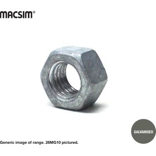 8MM GAL HEX NUTS