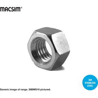 12MM 304 SS HEX NUTS BOX 100