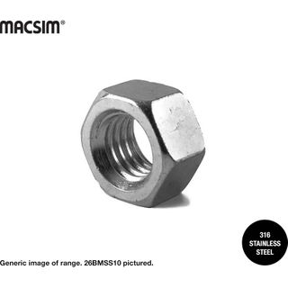 M8 316 SS HEX NUTS