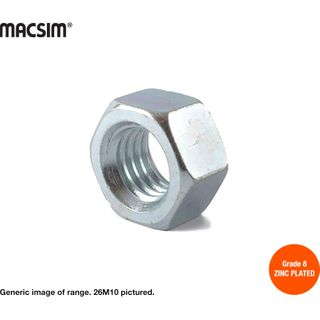 10mm ZP STD HEX NUT - BOX 1000