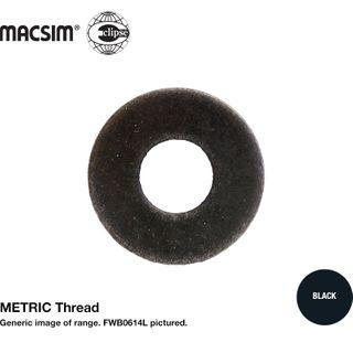1/4 M6 F/WSH BLK LGE O/D 20mm