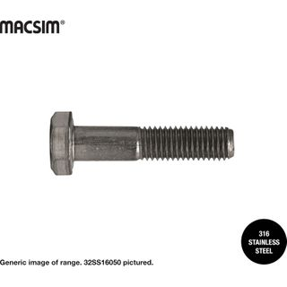 12MM X 280MM HEX BOLTS 316 SS