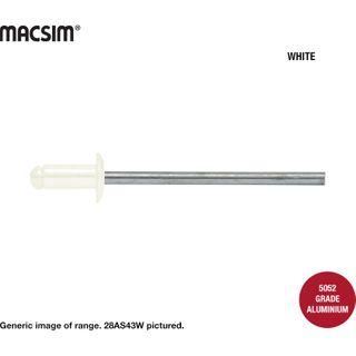 46 Alum/Steel Rivet White