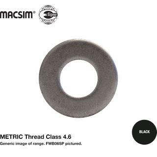 M6 1/4 F/WSH BLK PP S O/D 17mm