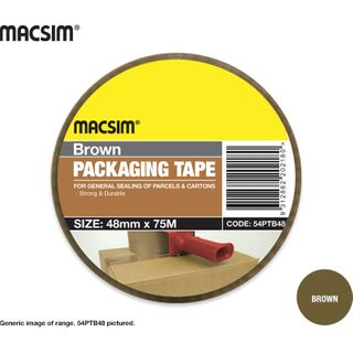 48mm x 75mm Brown Packing Tape