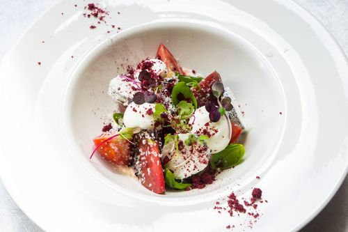 Tomato and Goat's cheese salad