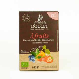 Doucet Organic French Jelly Bars 3 Fruits 5x25g