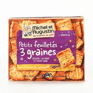 Michel & Augustin Feuilleté Graines & Poivre 90g