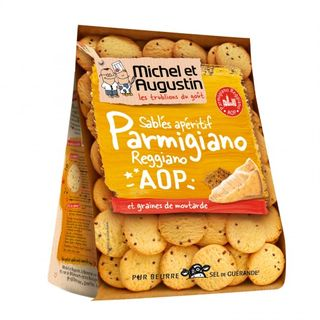 Michel et Augustin Small Shortbreads Parmesan Cheese