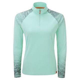 Women's UV Tec Long Sleeve Zip Tee Mist sz 12