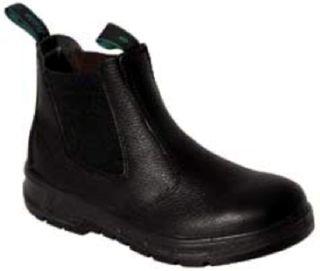 Bata Hero Black Leather SlipOn Workboots