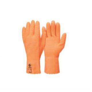 Orange Ruffy Gloves