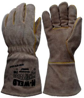 Gauntlet Leather Gloves XL