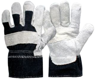 Denim Patch Rigger Gloves L