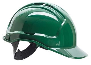 HiVis Green Hard Hat Vented