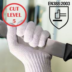 White Cut Resistant Glove (6 Pack)