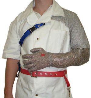 Full Stainless Sleeve Shoulder Mesh Glove
