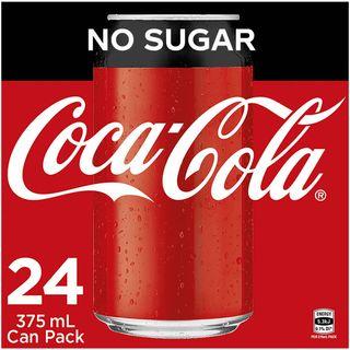 Coke No Sugar Cans 375ml  X 24