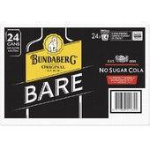 Bundaberg Bare & Zero Can 4x6 375ml-24