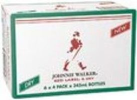 Johnnie Walker Red & Dry Stub 345ml-24