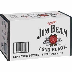 Jim Beam Long Black 330ml Stubs-24
