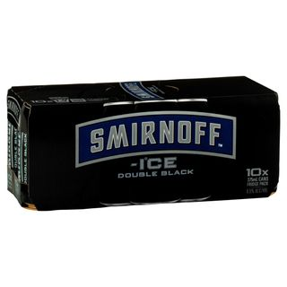 Smirnoff D/Black Cans 375ml 10PK x3