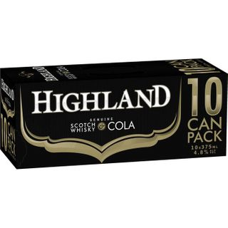 Highland Scotch & Cola 375ml 10PK x3