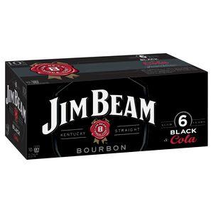 Jim Beam BLACK & Cola 375ml 10PK x3