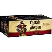 Captain Morgan & Cola Can 6% 10PK x3
