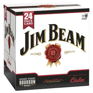 Jim Beam WHITE & Cola Cans 375ml CUBE