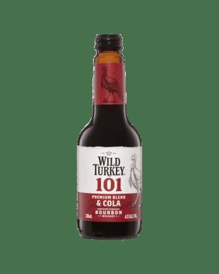 Wild Turkey 101 & Cola Stub 6x4 340ml-24