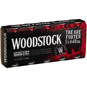 Woodstock & Cola 440ml (30) 1 Footer