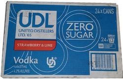 UDL Zero Vodka Strawberry Lime 375ml-24