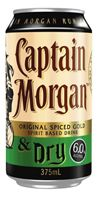 Captain Morgan & Dry 6% Can 375ml-24