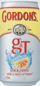 Gordons Gin Tonic & Lemon Cans 375ml-24