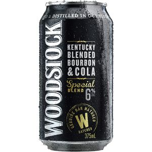 Woodstock & Cola Can 6% 375ml-24