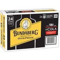 Bundaberg OP & Cola Can 4x6 375ml-24
