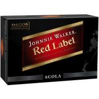 Johnnie Walker & Cola Cans 375ml 4x6-24