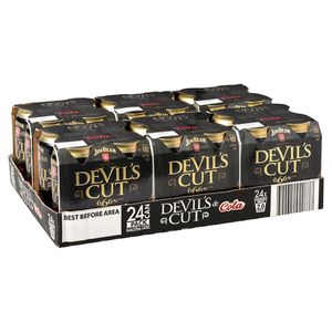 Jim Beam Devils Cut Can 375ml-24