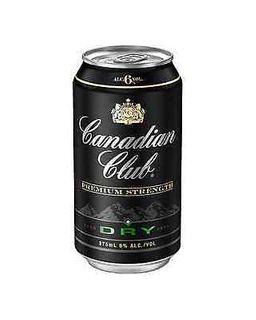 Canadian Club 6% & Dry Can 375ml-24