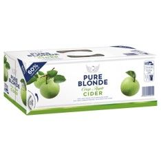 Pure Blonde Organic Cider 375ml 10PK x3