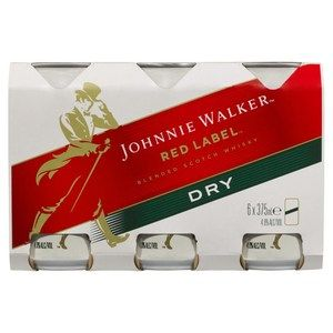 Johnnie Walker Red & Dry Can 375ml-24