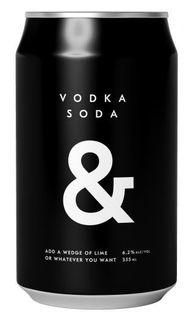 Vodka Soda & BLACK 6.2% Can 355ml-24